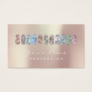 Cartão De Visitas Ouro cor-de-rosa do brilho do estúdio da beleza da