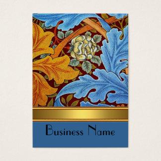 Cartão De Visitas Ouro de William Morris do impressão do vintage do