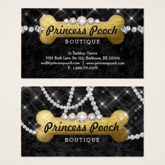 Cartão De Visitas Ouro do osso do caminhante da princesa Cão Cão
