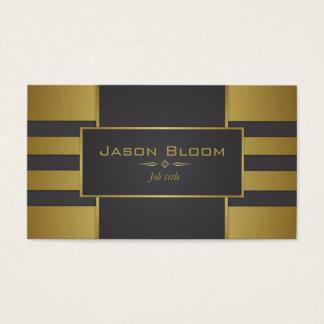 Cartão De Visitas Ouro e listras pretas