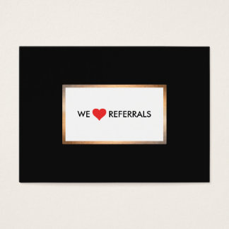 Cartão De Visitas Ouro e referência preta da apreciação do cliente