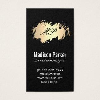 Cartão De Visitas Ouro escovado com preto