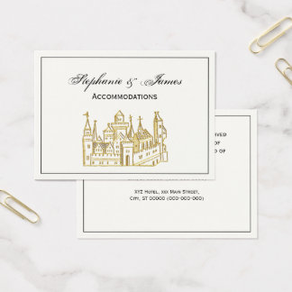 Cartão De Visitas Ouro heráldico do falso da crista do castelo #2 do