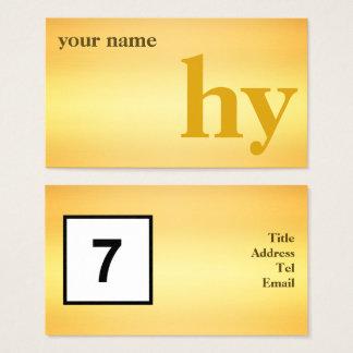 Cartão De Visitas Ouro inicial simples do design