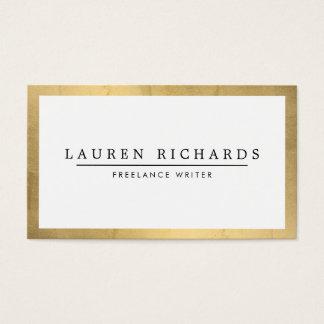 Cartão De Visitas Ouro Luxe profissional e branco do falso