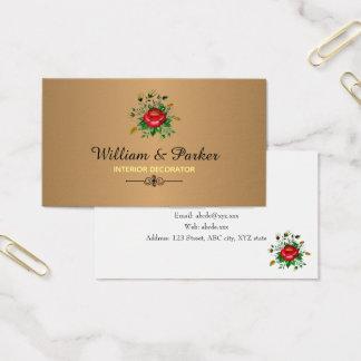 Cartão De Visitas Ouro & máscaras elegantes do cinza