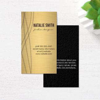 Cartão De Visitas Ouro metálico elegante