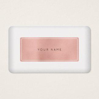 Cartão De Visitas Ouro mínimo Pearl White Vip do rosa do rosa