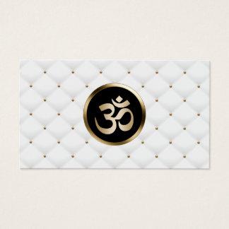 Cartão De Visitas Ouro moderno do instrutor da ioga & edredões