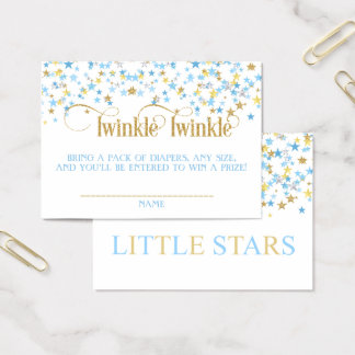 Cartão De Visitas Ouro pequeno do azul do Raffle da fralda dos