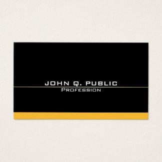 Cartão De Visitas Ouro preto elegante profissional moderno simples