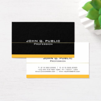 Cartão De Visitas Ouro preto profissional moderno liso simples