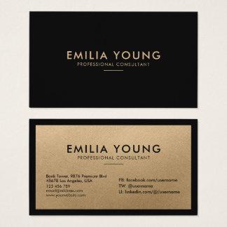 Cartão De Visitas Ouro profissional minimalista simples limpo