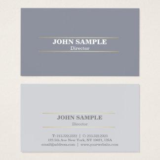 Cartão De Visitas Ouro profissional moderno elegante do cinza do