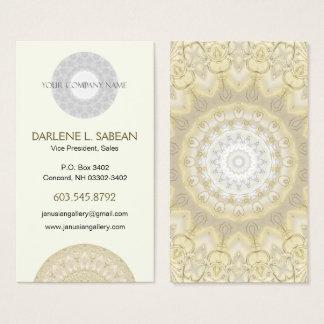 Cartão De Visitas Ouro requintado mandala Wedding bordada