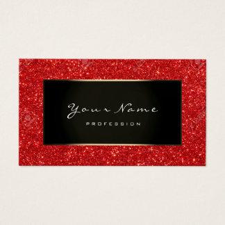 Cartão De Visitas Ouro vermelho Ruben de Champagne do Blogger da