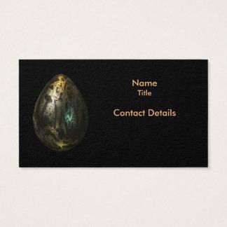 Cartão De Visitas Ovo do metal derretido