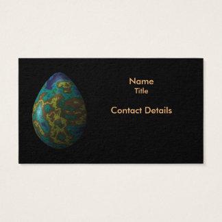 Cartão De Visitas Ovo iridescente do pavão