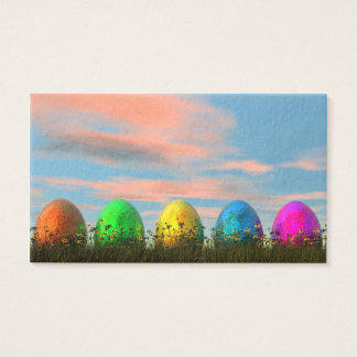 Cartão De Visitas Ovos coloridos para a páscoa - 3D rendem