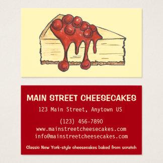 Cartão De Visitas Padaria do bolo de queijo da Nova Iorque de NYC
