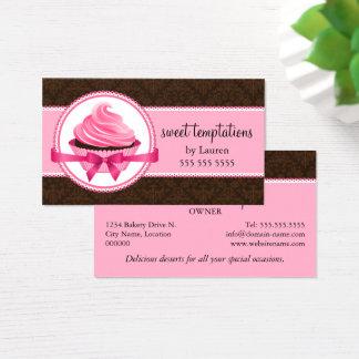 Cartão De Visitas Padaria do cupcake do Couture