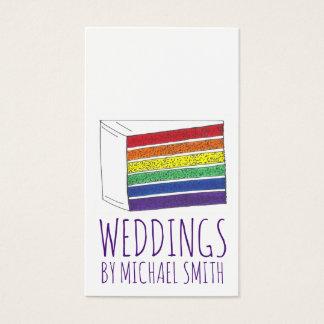 Cartão De Visitas Padaria do planejador do casamento do bolo do