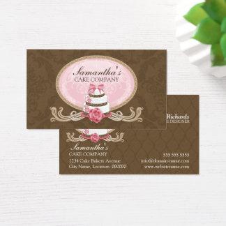 Cartão De Visitas Padaria elegante do bolo
