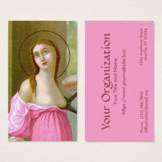 Cartão De Visitas Padrão cor-de-rosa do St. Agatha (M 003) FB