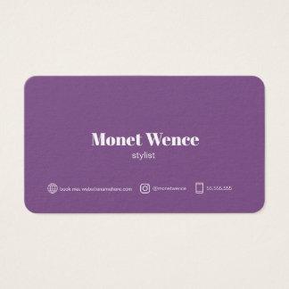 """Cartão De Visitas Padrão de Monet, 3,5"""" x 2,0"""", resíduo metálico"""