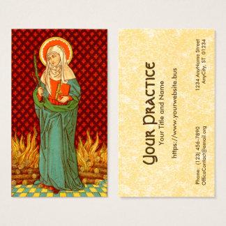 Cartão De Visitas Padrão do St. Apollonia (VVP 001) FB