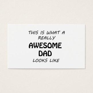 Cartão De Visitas Pai impressionante
