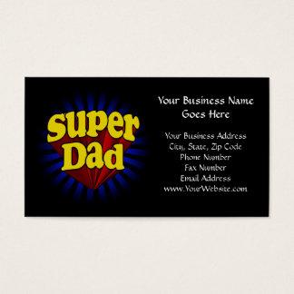 Cartão De Visitas Pai super, vermelho fresco/amarelo/dia dos pais