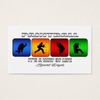 Cartão De Visitas Paintball legal é um modo de vida