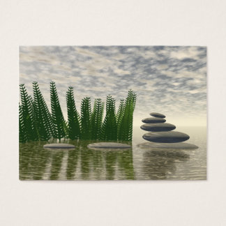 Cartão De Visitas Paisagem bonita do zen no meio de aquático