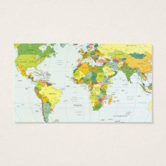 Cartão De Visitas Países do atlas do globo do mapa do mundo