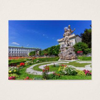 Cartão De Visitas Palácio de Mirabell e jardins, Salzburg, Áustria