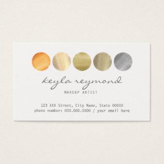 Cartão De Visitas paleta de cores da composição/maquilhador