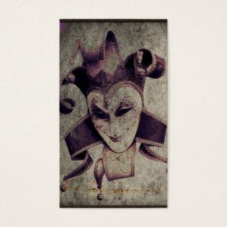 Cartão De Visitas Palhaço gótico do palhaço do renascimento
