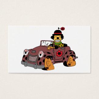 Cartão De Visitas Palhaço no carro