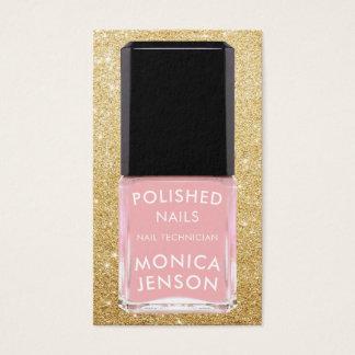 Cartão De Visitas Pálido cora o brilho cor-de-rosa do falso da