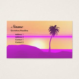 Cartão De Visitas Palma da manhã - negócio