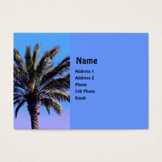 Cartão De Visitas palmeira tropical