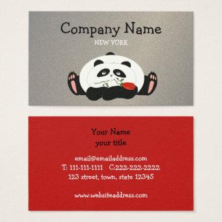 Cartão De Visitas Panda Bonito Engraçado Forma Empresa caçoa animais
