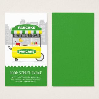 Cartão De Visitas Panqueca da rua da comida
