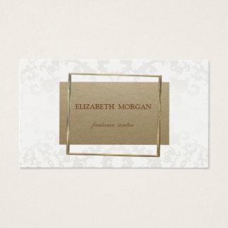 Cartão De Visitas Papel de embalagem de Brown do vintage, laço,