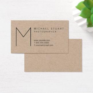 Cartão De Visitas Papel de embalagem Minimalista moderno simples do
