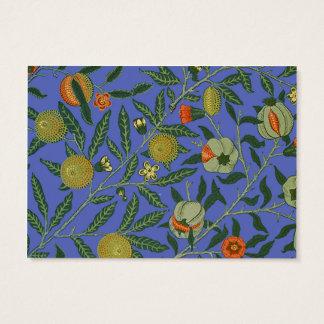 Cartão De Visitas Papel de parede botânico do teste padrão da romã
