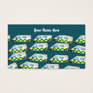 Cartão De Visitas Papel de parede da ambulância, seu nome aqui