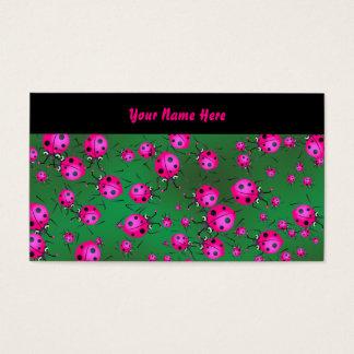 Cartão De Visitas Papel de parede do joaninha, seu nome aqui