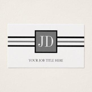 Cartão De Visitas Papel superior da platina do monograma de